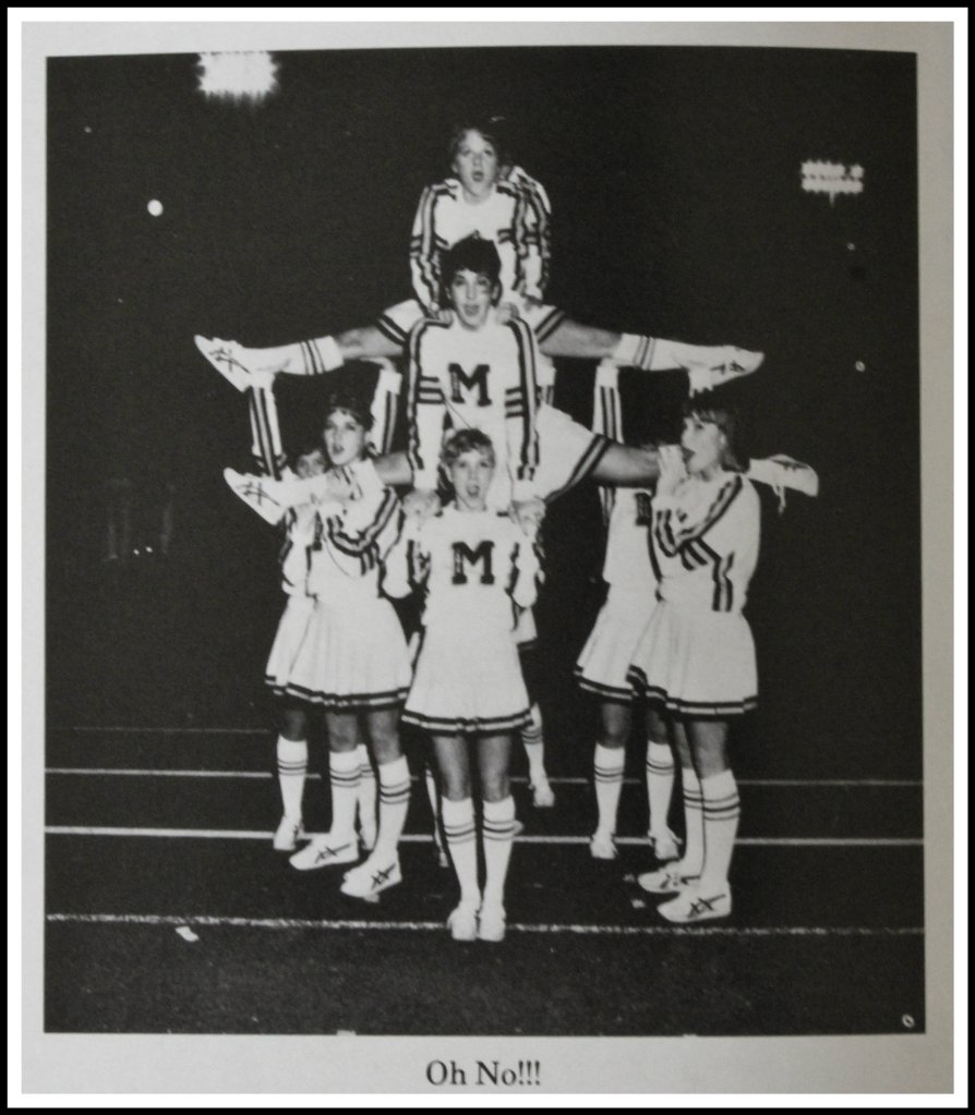 Cheerleaders Doing What They Do Best