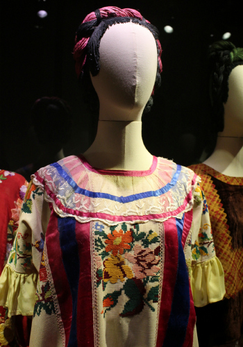 Close-Up of a Blouse Owned by Frida Kahlo