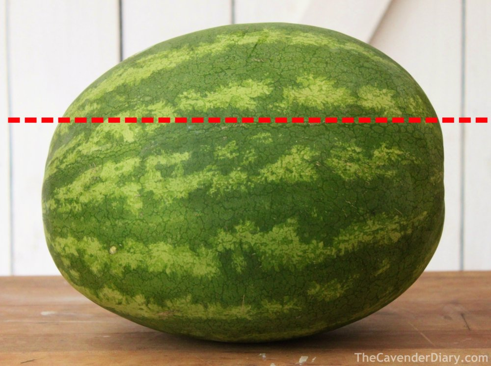 Cut the Top Third off the Watermelon
