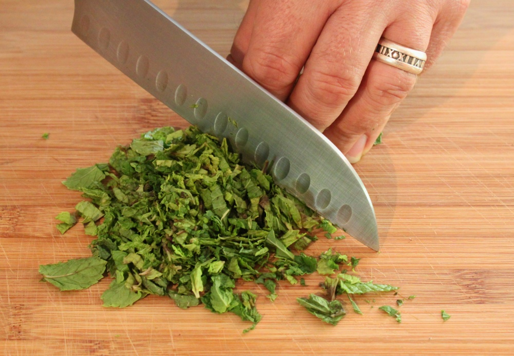 Finely Chop a Bunch of Fresh Mint