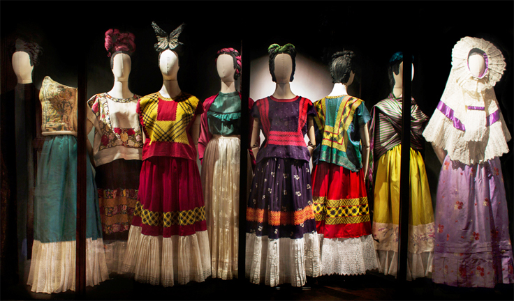 Frida Kahlo Dresses on Display in Mexico City