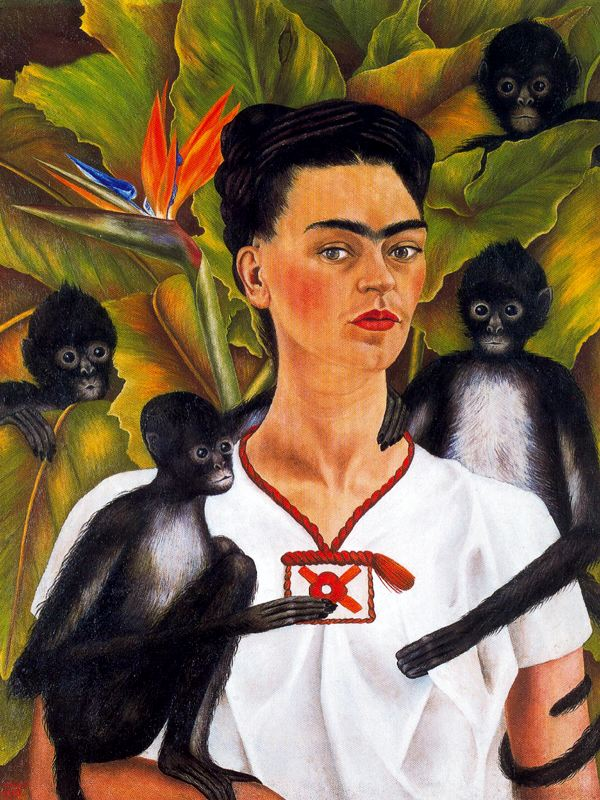 Frida Kahlo with Monkeys