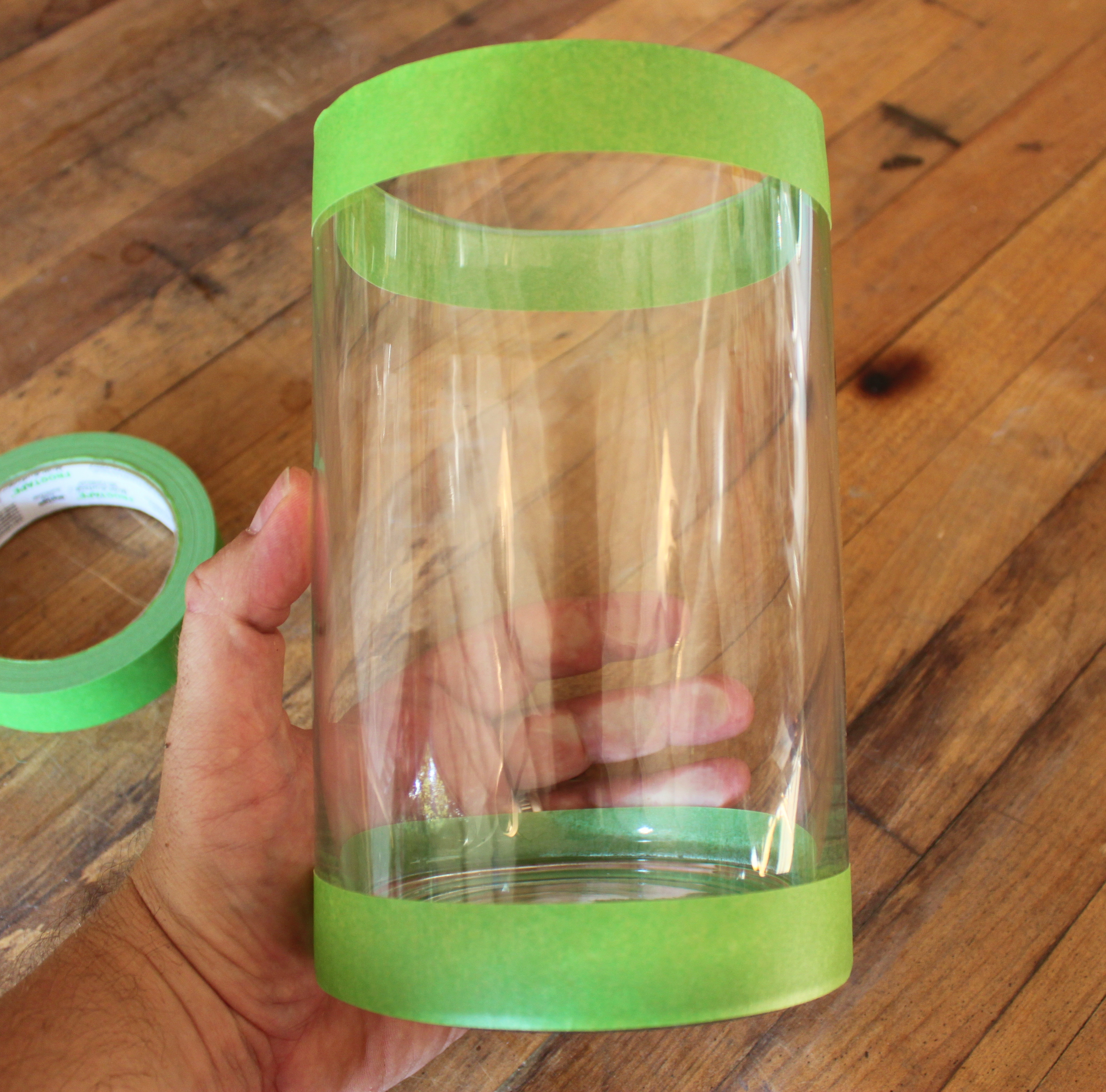 Cylinder vase the cavender diary glass cylinder vase with frog taped around the edges reviewsmspy