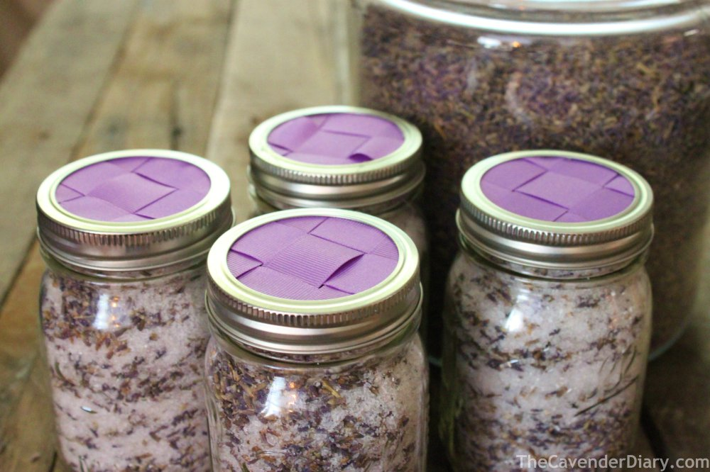 Lavender Bath Soak Jars from the Cavender Diary Boys