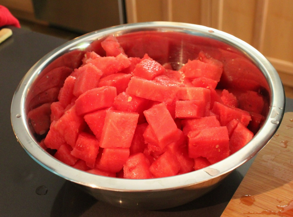 Leave the Watermelon Chunks Relatively Large