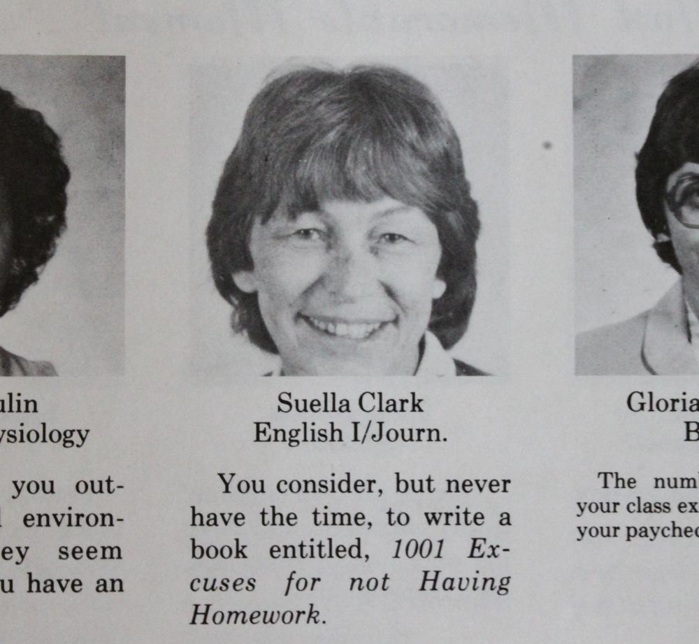 Ms. Suella Clark English 1 & Journ.