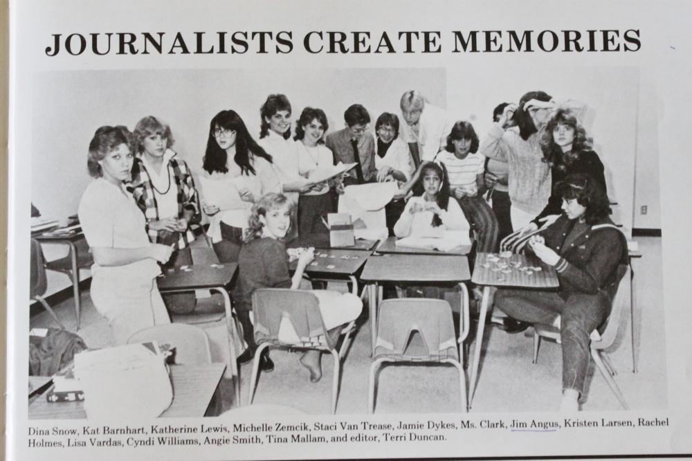 My Journalisim Class in  1985