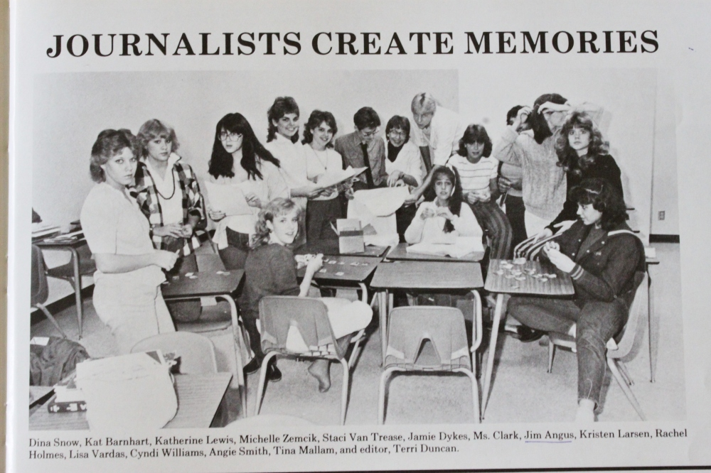 My Journalisim Class in  1985