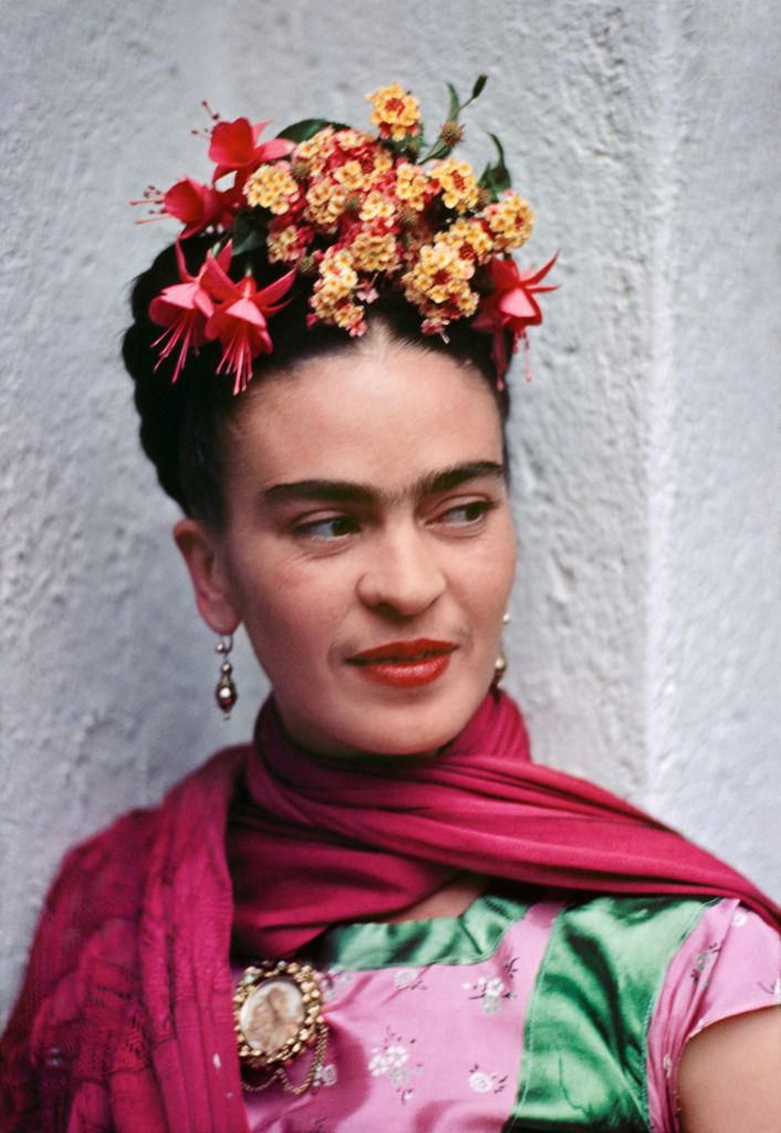 Nickolas Muray Frida in Pink and Green Blouse, 1938