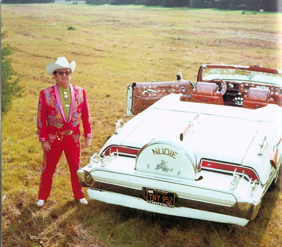 Nudie Cohn and One of His Customized Cars