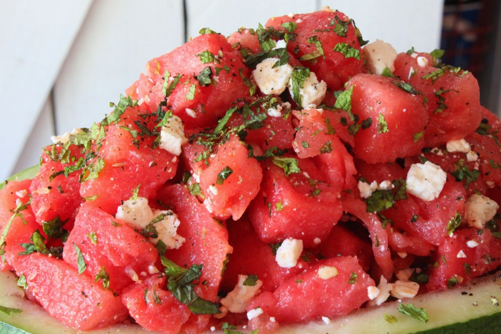 Watermelon Mint & Feta Salad from the Cavender Diary Boys