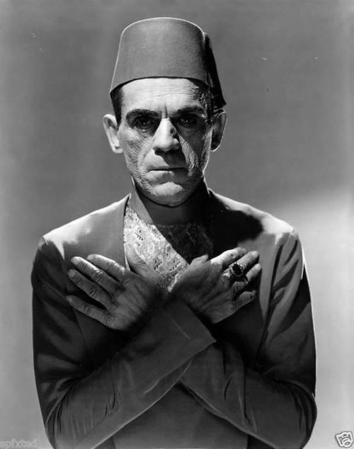 Boris Karlof as the Mummy