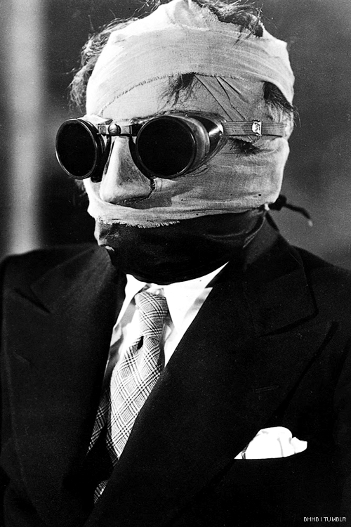 Claud Rains as the Invisible Man