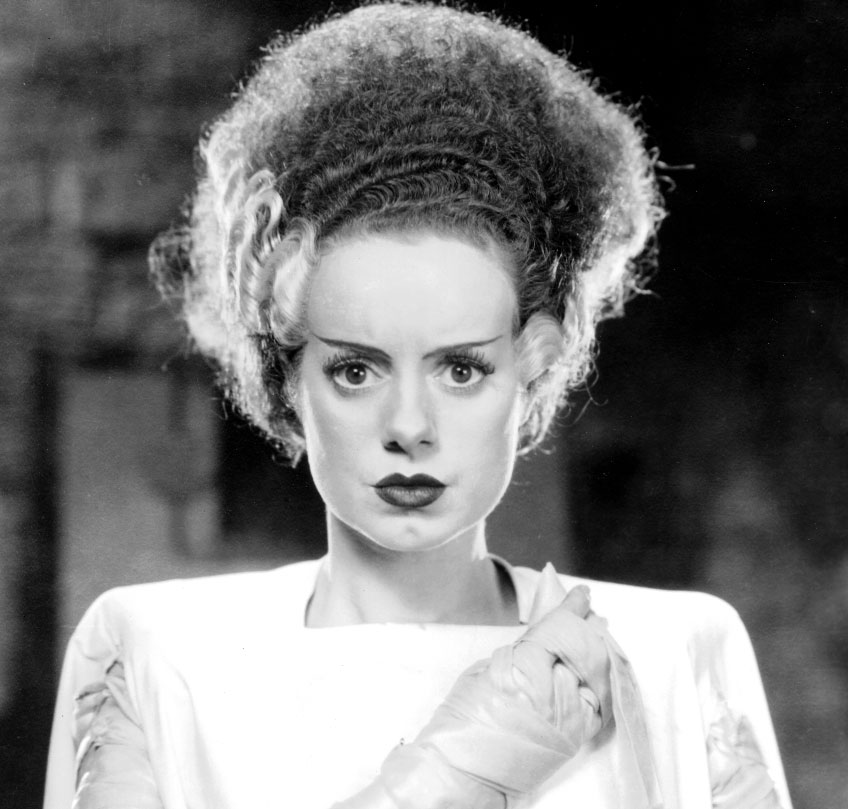 Elsa Lanchester as the Bride of Frankenstein