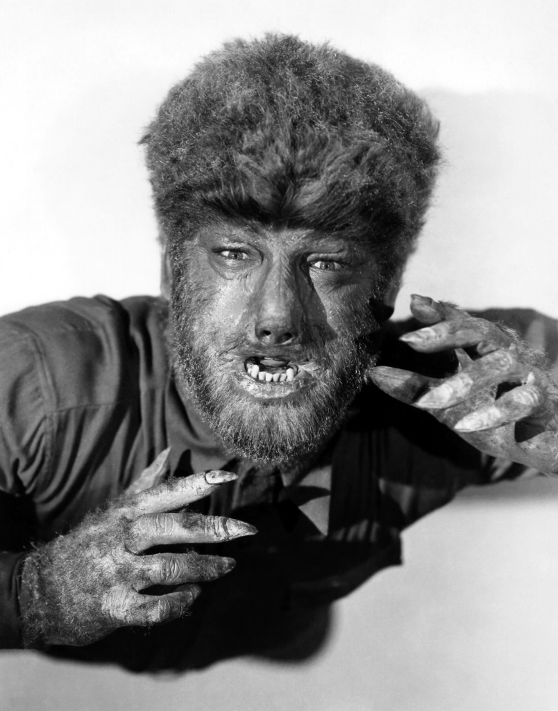 Lon Chaney Jr as the Wolfman