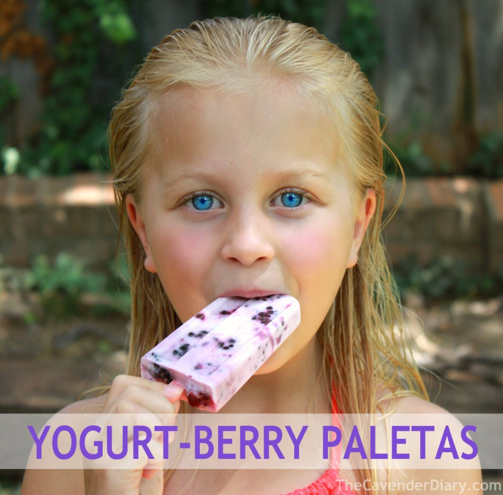 Yogurt Berry Paletas from the Cavender Diary Boys