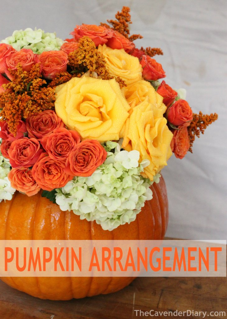 Arrangement in a Pumpkin from the Cavender Diary Boys