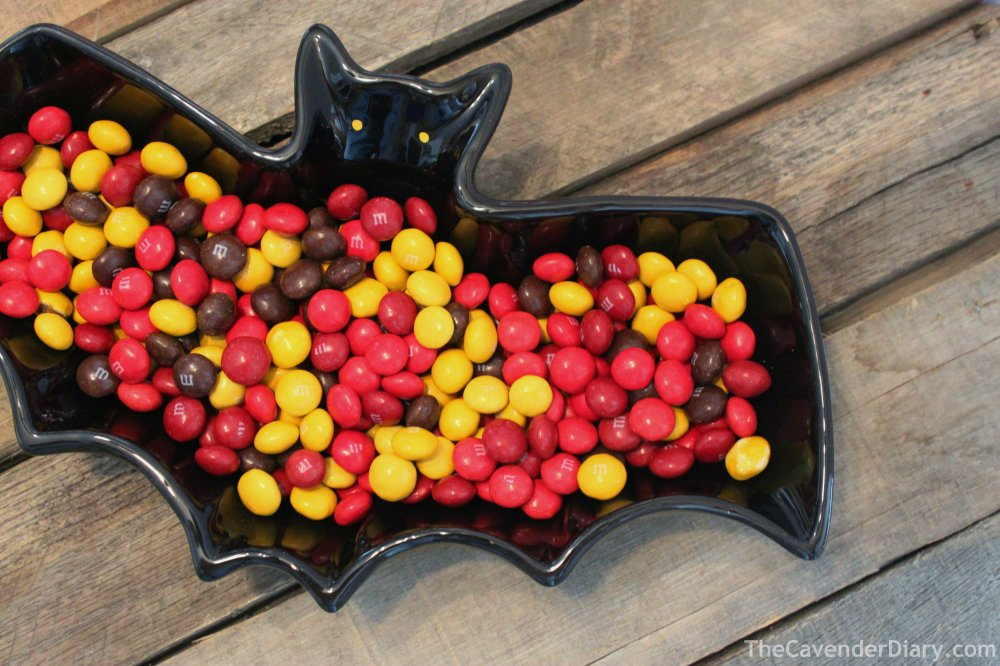Bat Dish Filled with M&Ms