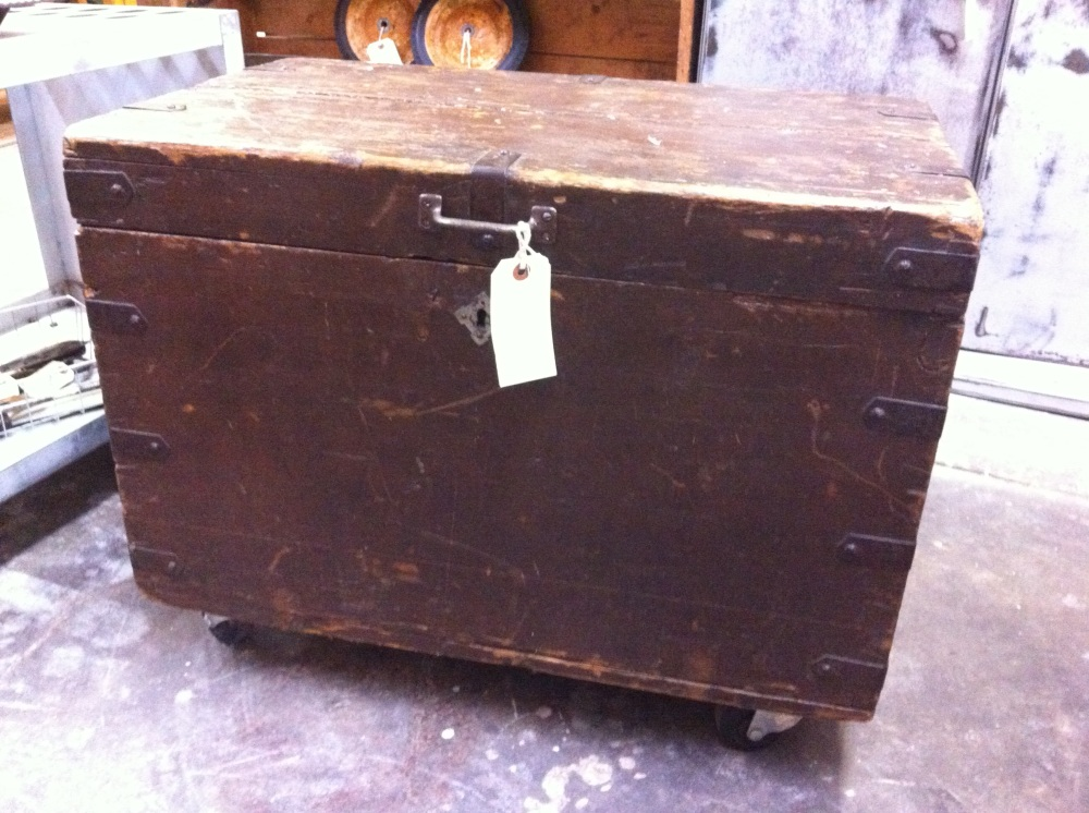 Brown Trunk on Casters