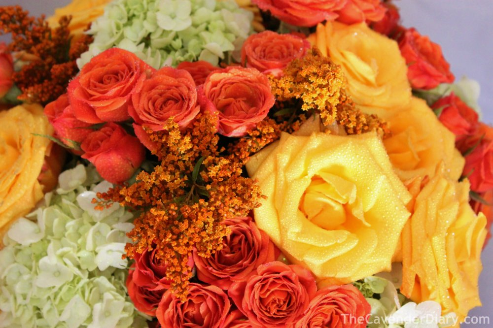 Close Up of the Pumpkin Arrangement from the Cavender Diary