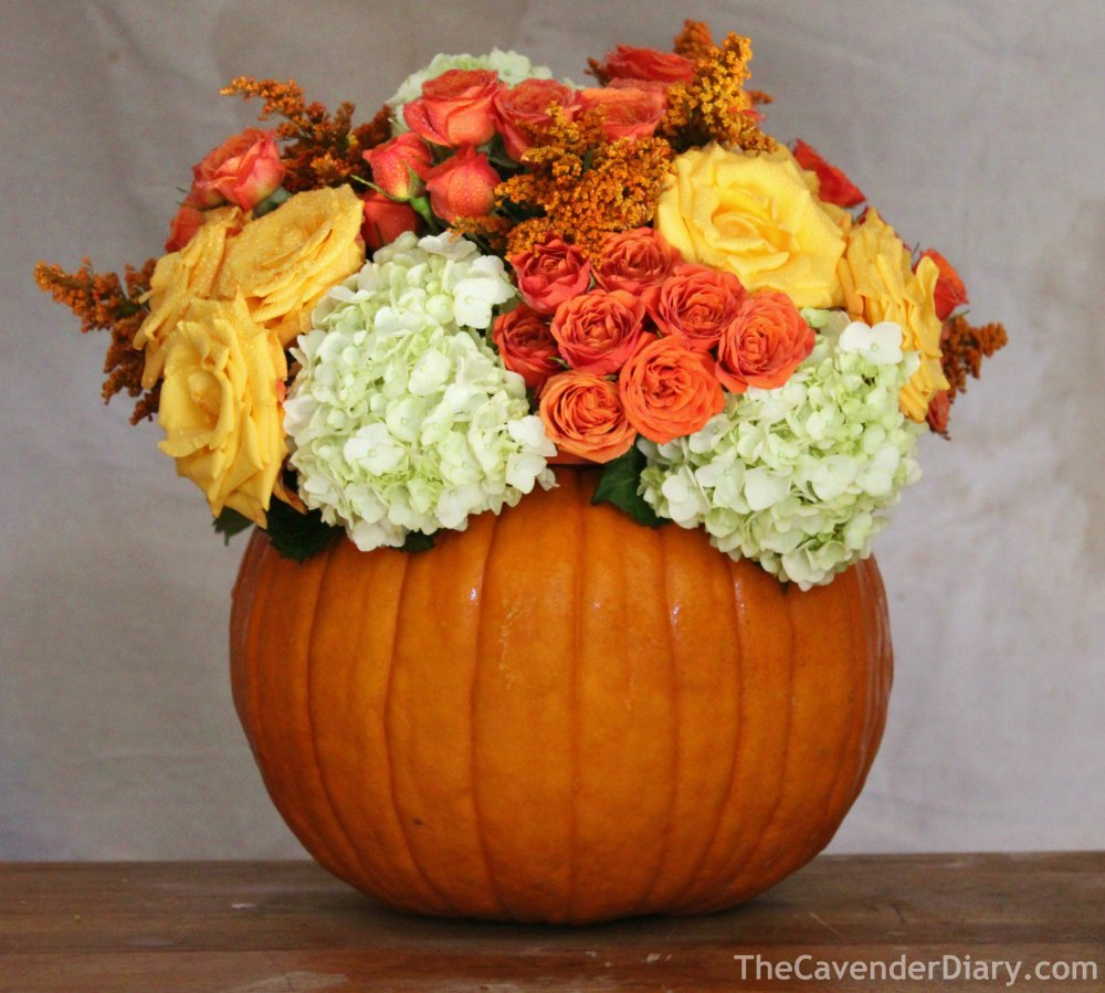 Finished Pumpkin Arrangement from the Cavender Diary