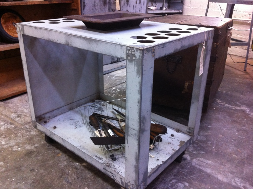 Galvanized Rolling Tool cart