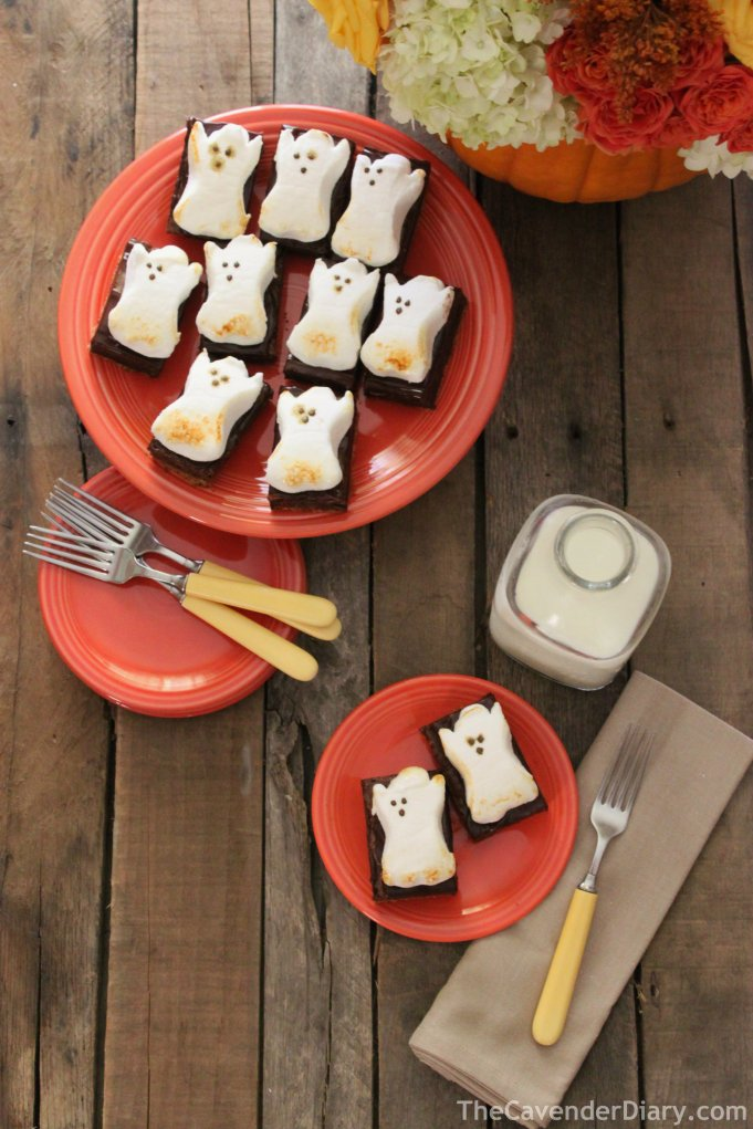 Ghost Brownies Ready for a Party from the Cavender Diary