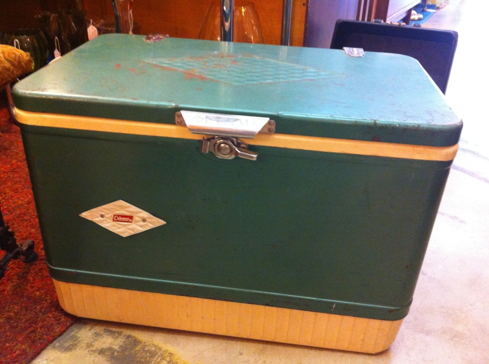 Green Coleman Ice Chest