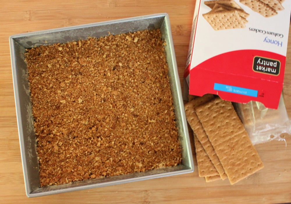 Mash the Graham Cracker Crust into the Bottom of a 9X9 Baking Dish