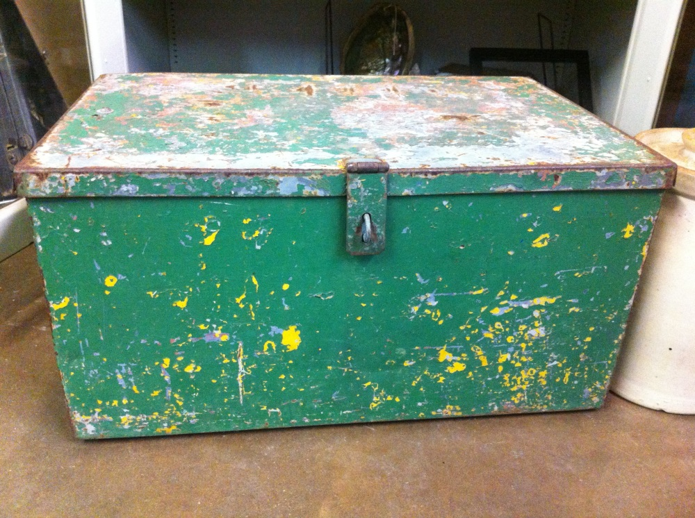Painted Green Trunk