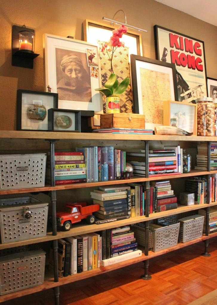 Plumbing Pipe Shelves from the Cavender Diary