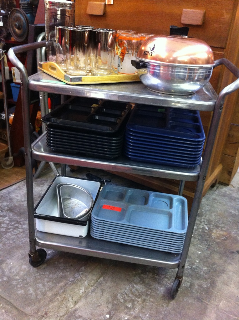 Stainless Steel Rolling Bar Cart