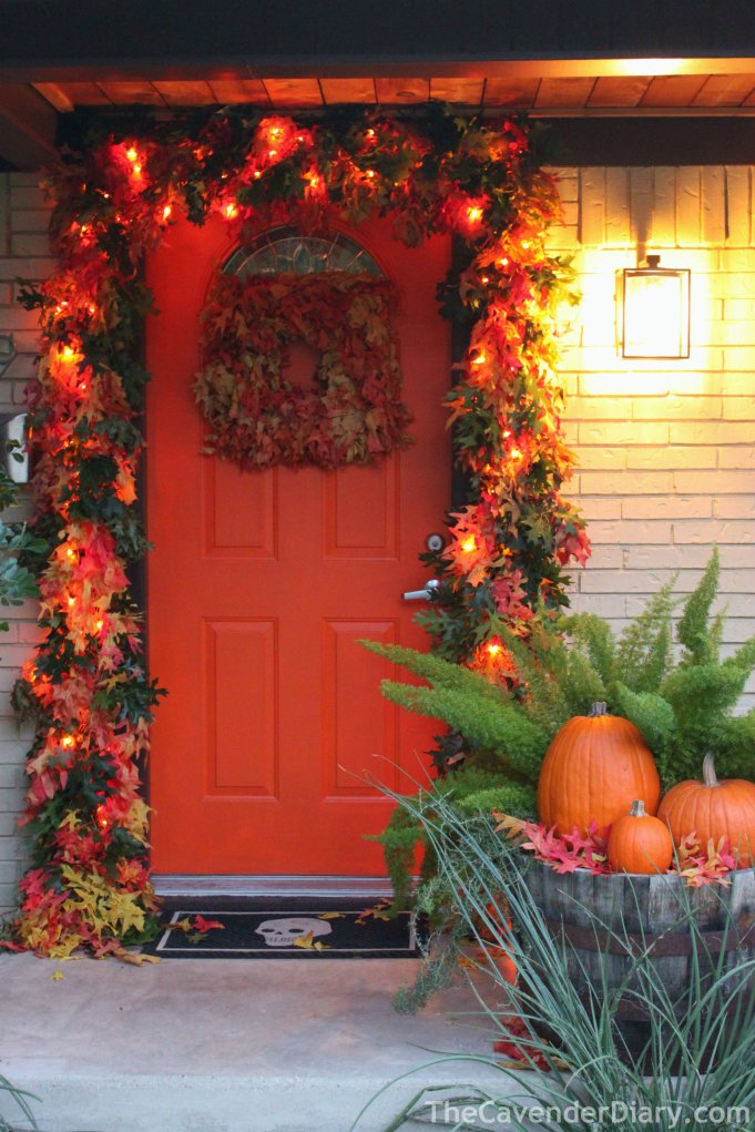 The Front Door of the Cavender House for October