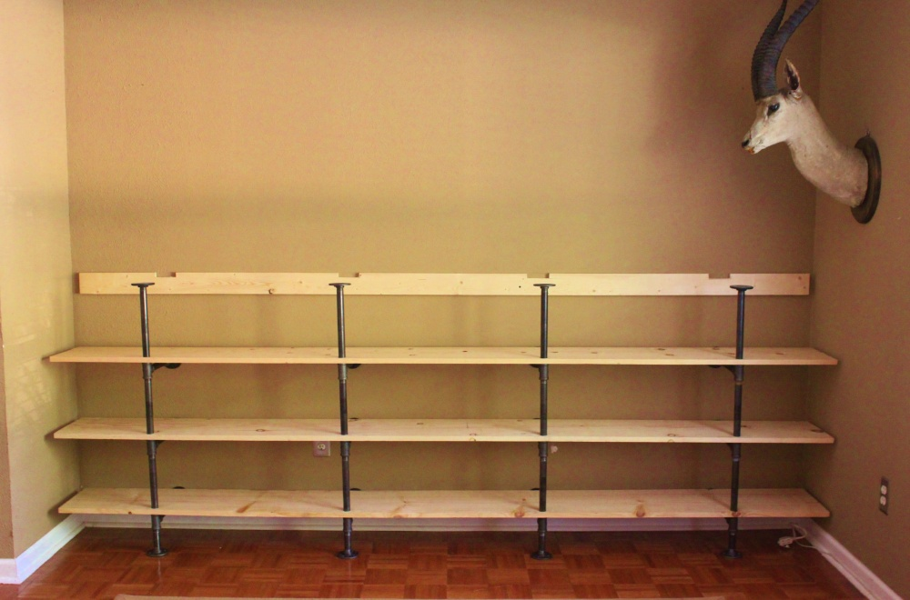 The Shelves with the Cleat Added to the Back Wall