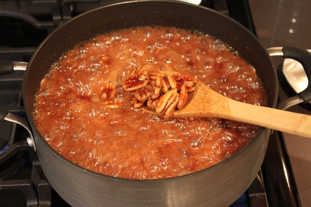 Continue to Stir the Pecans in the Sugar Solution for 10 Minutes