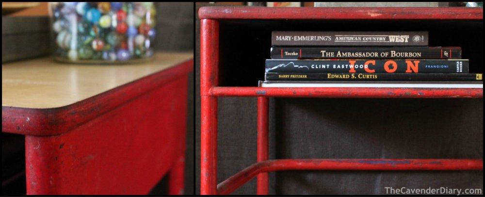 Little Red School Desk Collage
