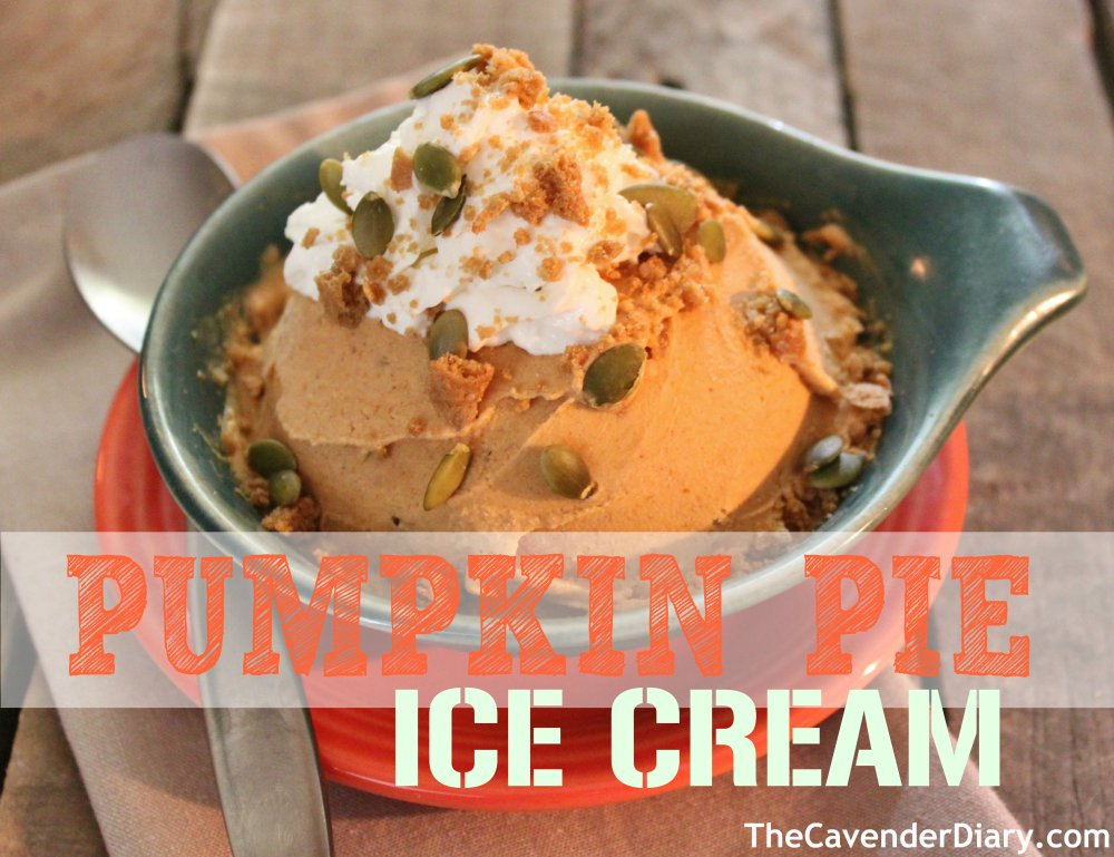 Pumpkin Pie Ice Cream from the Cavender Diary
