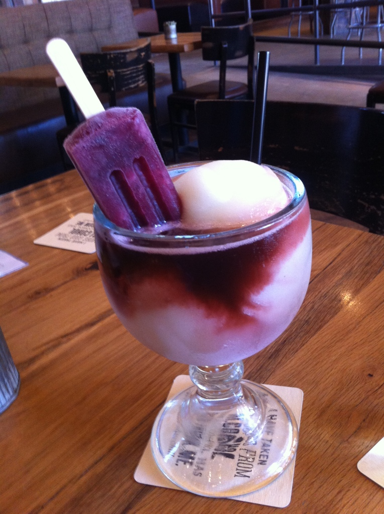 Sangria Popsicle in a Margarita at the Rustic