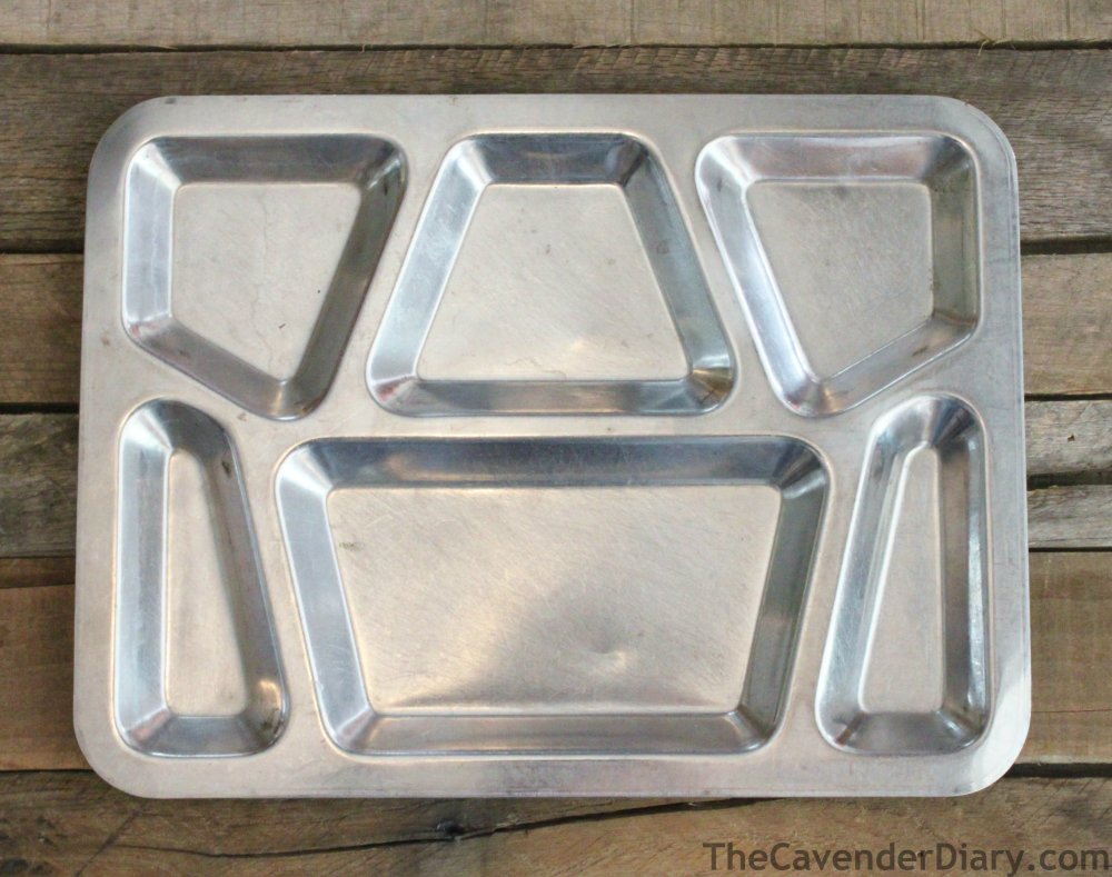 Stainless Steel Mess Hall Tray from a Junk Store
