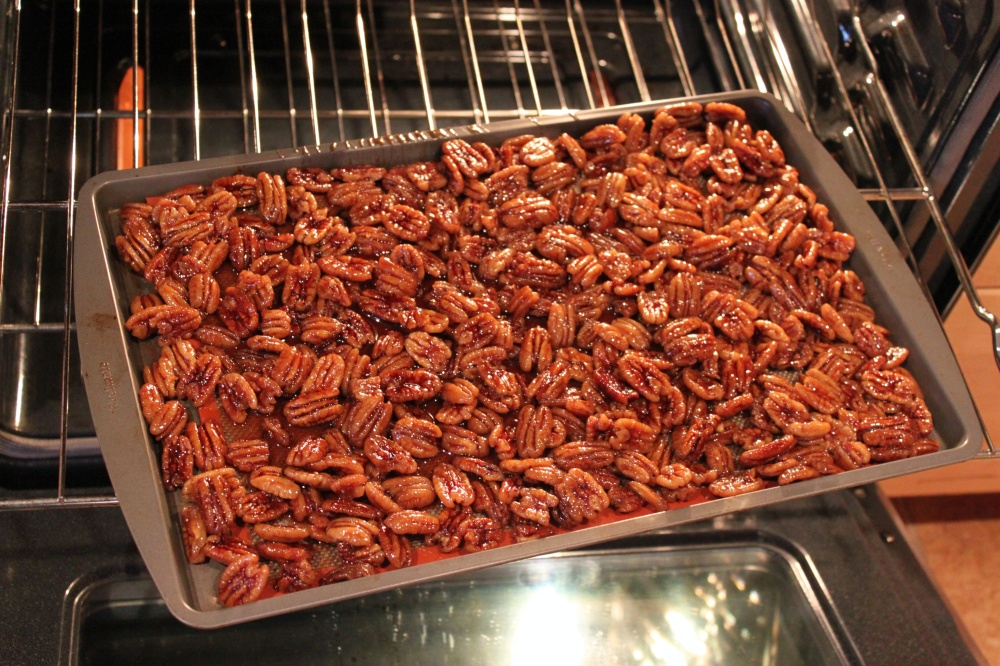 This is way to Many Pecans on a Single Baking Sheet