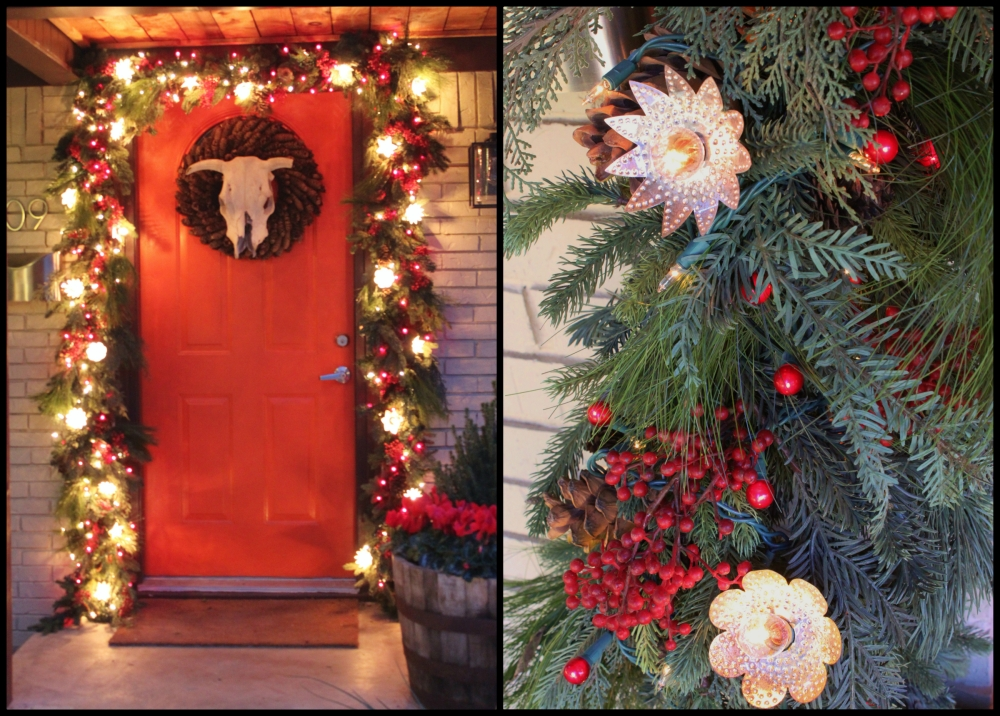 Christmas Front Door Collage