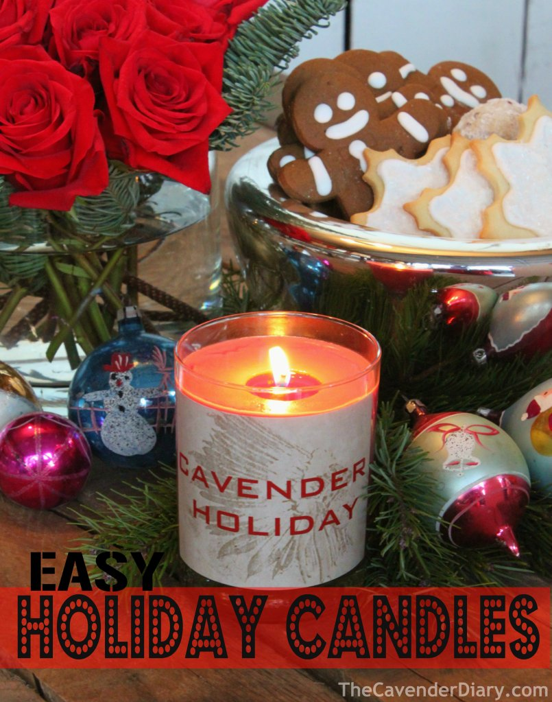 Easy Holiday Candles from the Cavender Diary Boys
