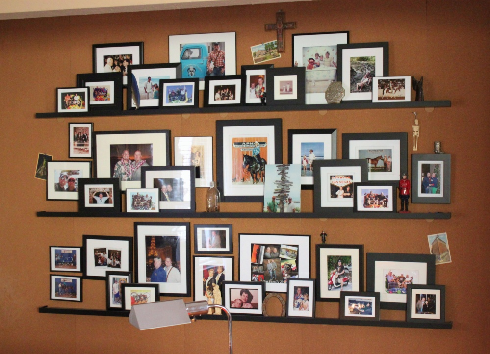 The Wall of Pictures in the Front Living Room