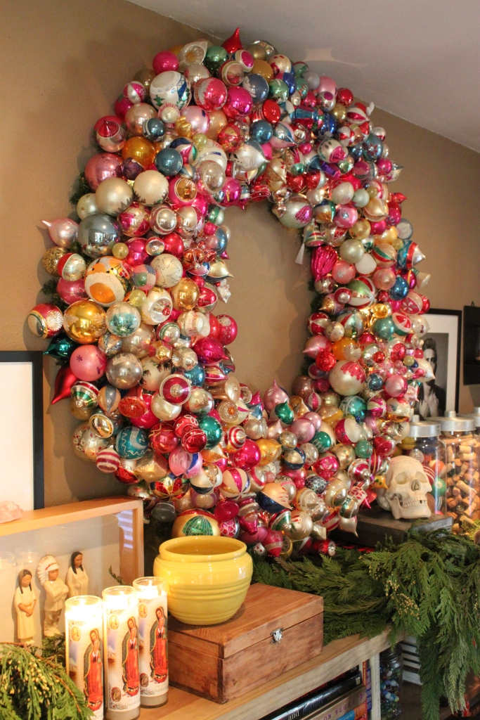 The Big Vintage Ornament Wreath for 2014