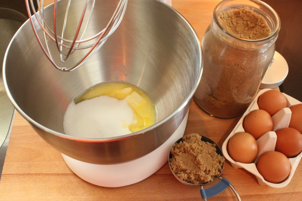 Mix Together the Butter, Sugars, and Eggs