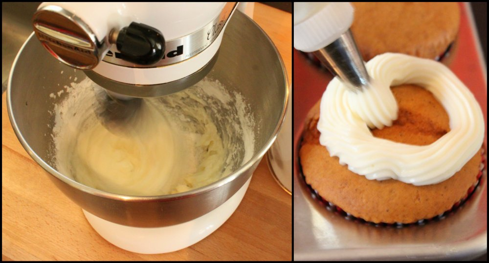 Pipe the Frosting onto the Cupcakes