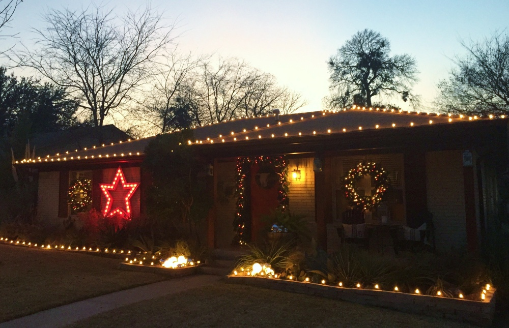 Side View of the Cavender House Lights December 2014