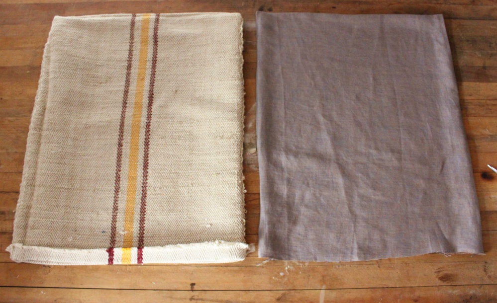 The 2 Sacks, One A Grain Sack and the Other Made of Linen