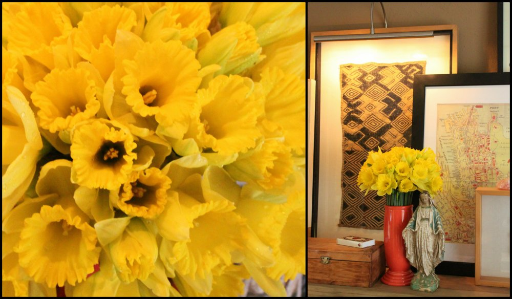 Daffodils in the Living Room Collage