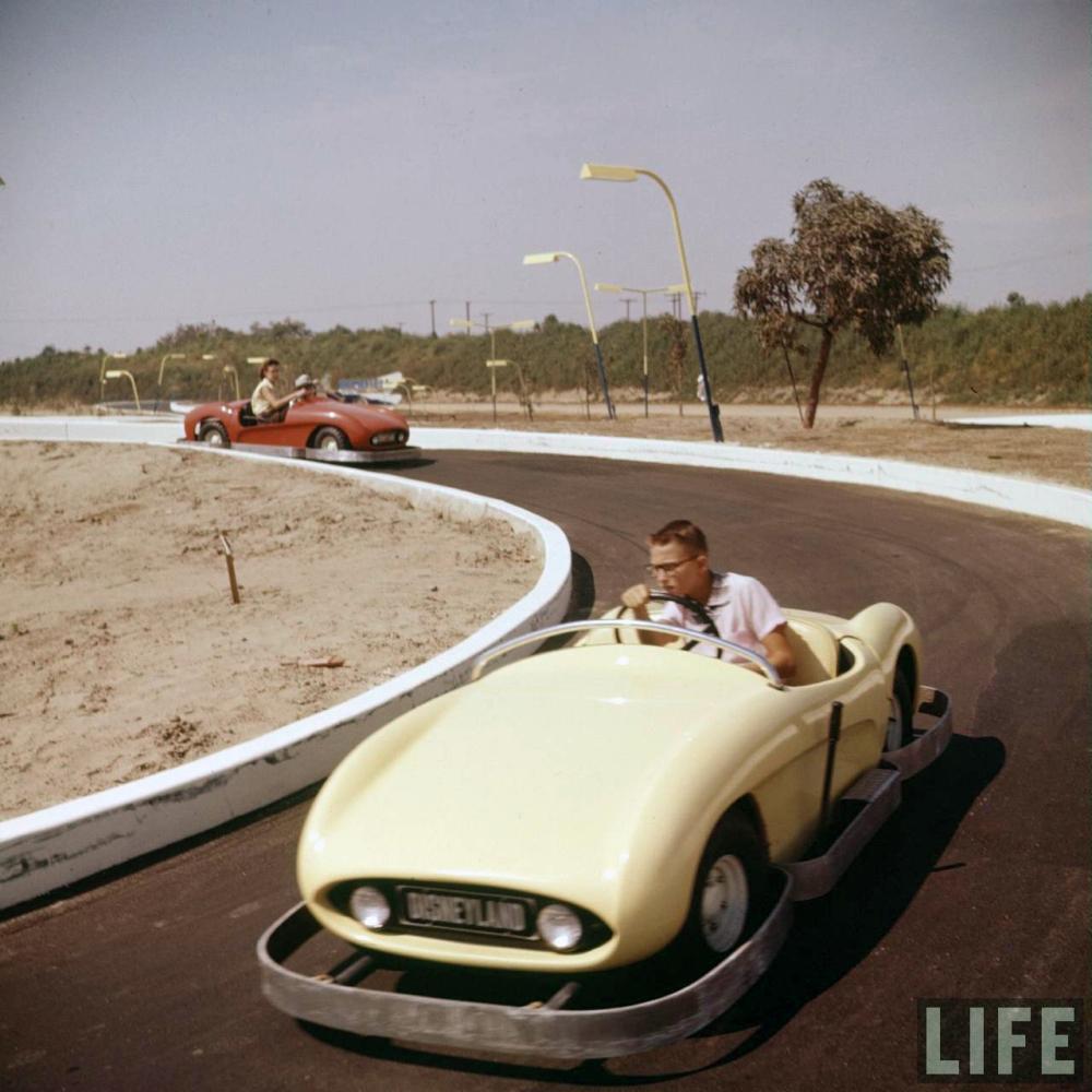 Disneyland Opening Day Racecars